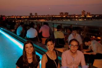 Cocktail time en Press Lounge Rooftop, Hotel Ink48. Nueva York 2012.