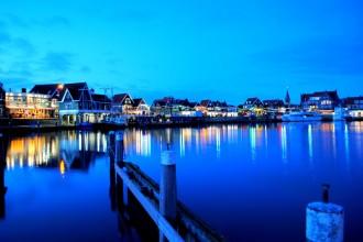 Puerto de Volendam, a orillas del lago IJssel. Países Bajos