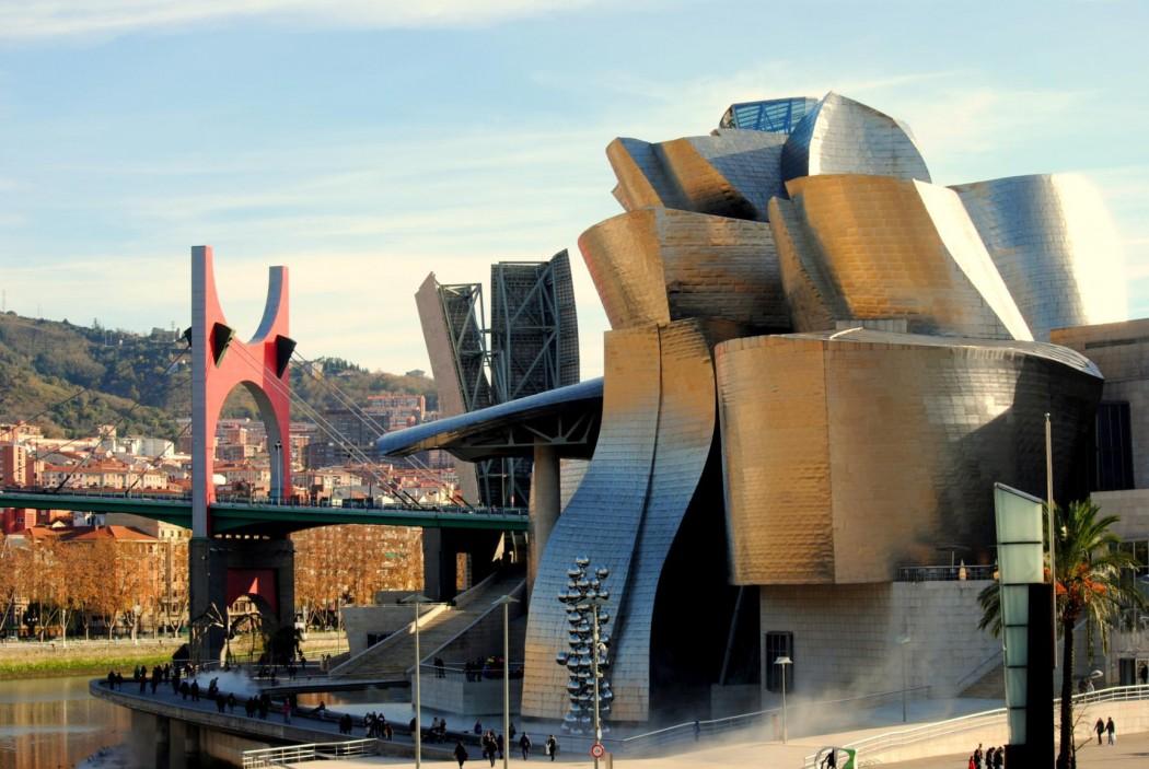 Museo Guggenheim y Puente Príncipes de España. Bilbao 2014.