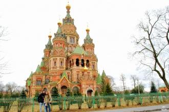 Catedral de los Santos Pedro y Pablo. Peterhof, Rusia, 2015.
