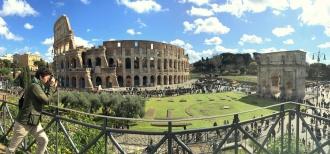 El Coliseo y el Arco de Constantino. Roma, 2016