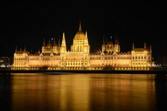 Parlamento desde el Bastión de los Pescadores. Budapest, Dic 2016