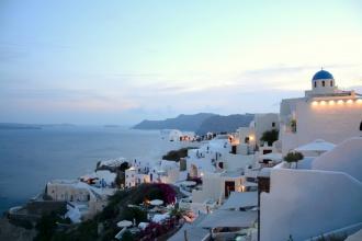 La hora más tranquila de Santorini. Grecia, 2017.