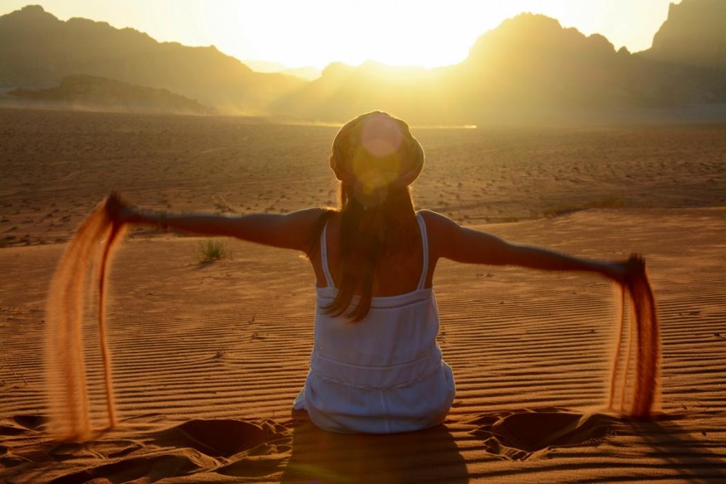 Atardecer en Marte. Wadi Rum, 2018.
